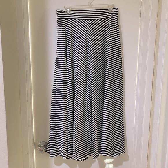 NWT banana republic stripe maxi skirt 8